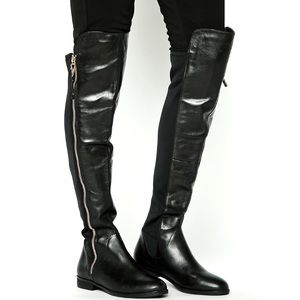 ALDO Uliawen black leather knee boots 7/37.5